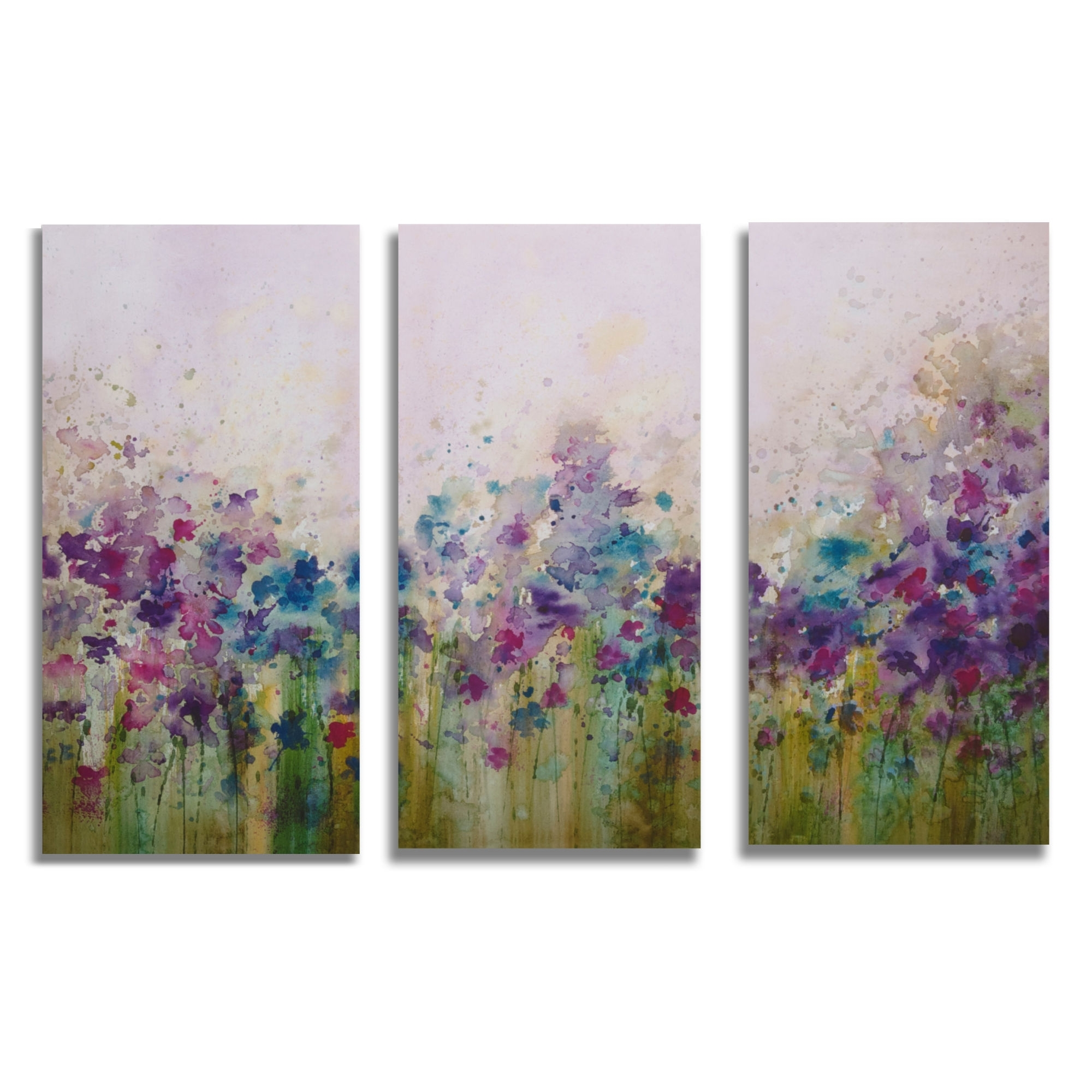 "Graham & Brown Watercolor Meadow Printed Canvas Art – 24"" X 35 Inside Most Current Purple Canvas Wall Art (Gallery 12 of 15)"
