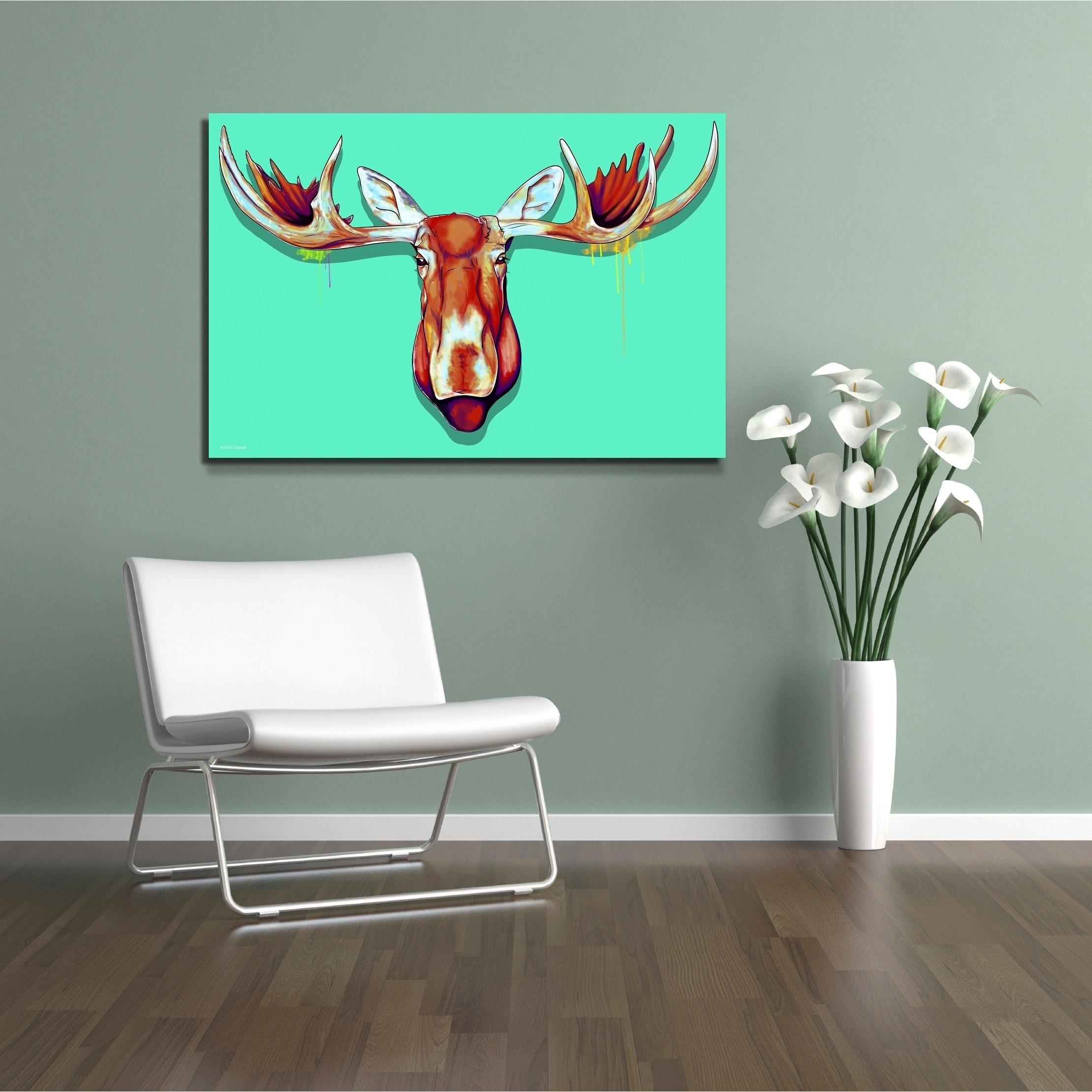 Grandin Road Wall Art Inside Famous Maxwell Dickson 'moose Head' Canvas Wall Art – Free Shipping Today (View 5 of 15)