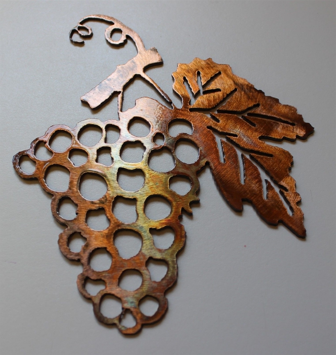 Grape Bushel Copper/bronze Metal Wall Art With Fashionable Metal Grape Wall Art (Gallery 2 of 15)
