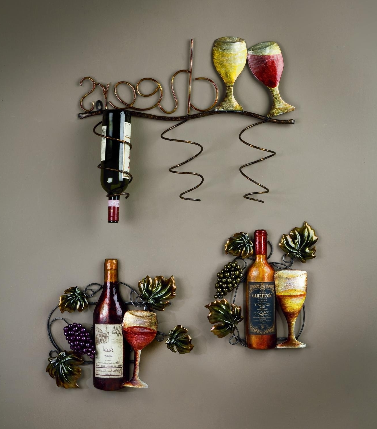 Grape Vine Metal Wall Art Within Latest I Would Love To Have This Wine Rack For The Home! (View 4 of 15)
