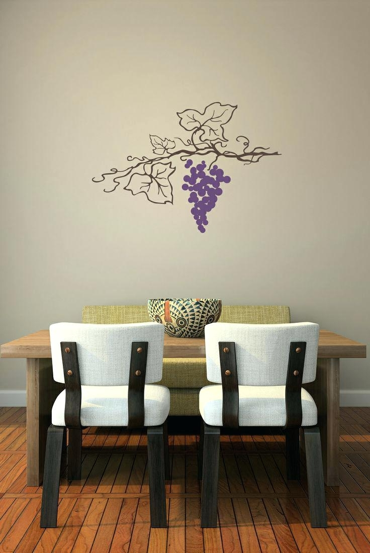 Grape Vine Wall Art Inside Most Recent Grape Wall Decals Choices Of Grape Vine Wall Art Wall Art Ideas (View 2 of 15)