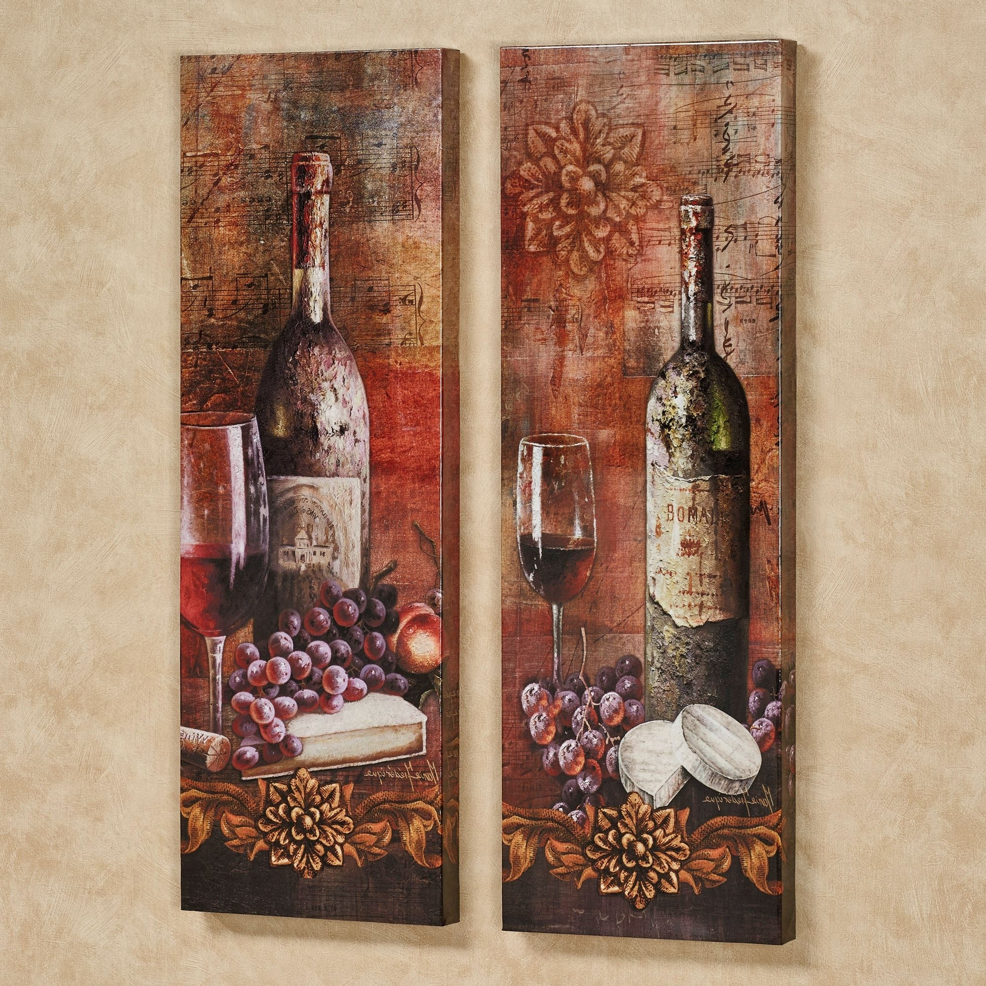 Grape Wall Art Throughout Most Up To Date Grapes Kitchen Decor (View 7 of 15)