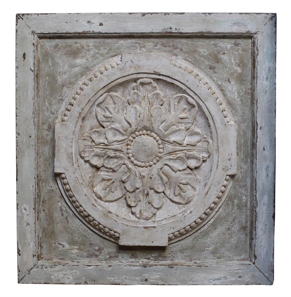 Greek Wall Art Inside Most Up To Date Athenia Greek Distressed French Country Vintage Carved Wood Panel (View 6 of 15)