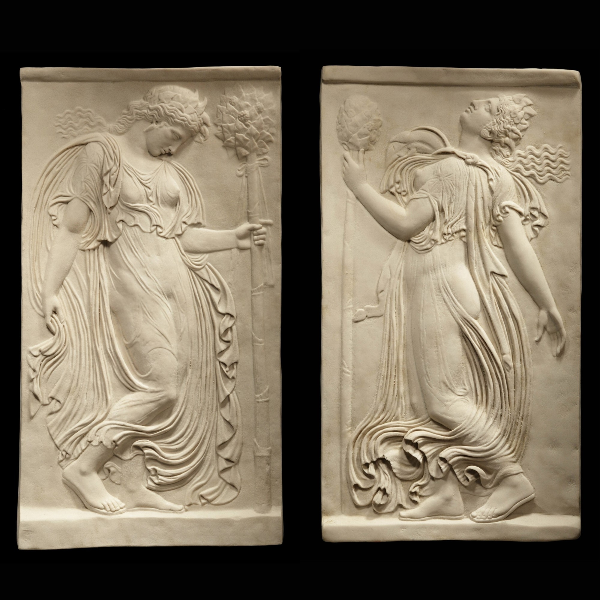 Greek Wall Art Intended For 2017 Greek Goddess Pair – Ancient Greek Marble Wall Relief Plaque (View 4 of 15)