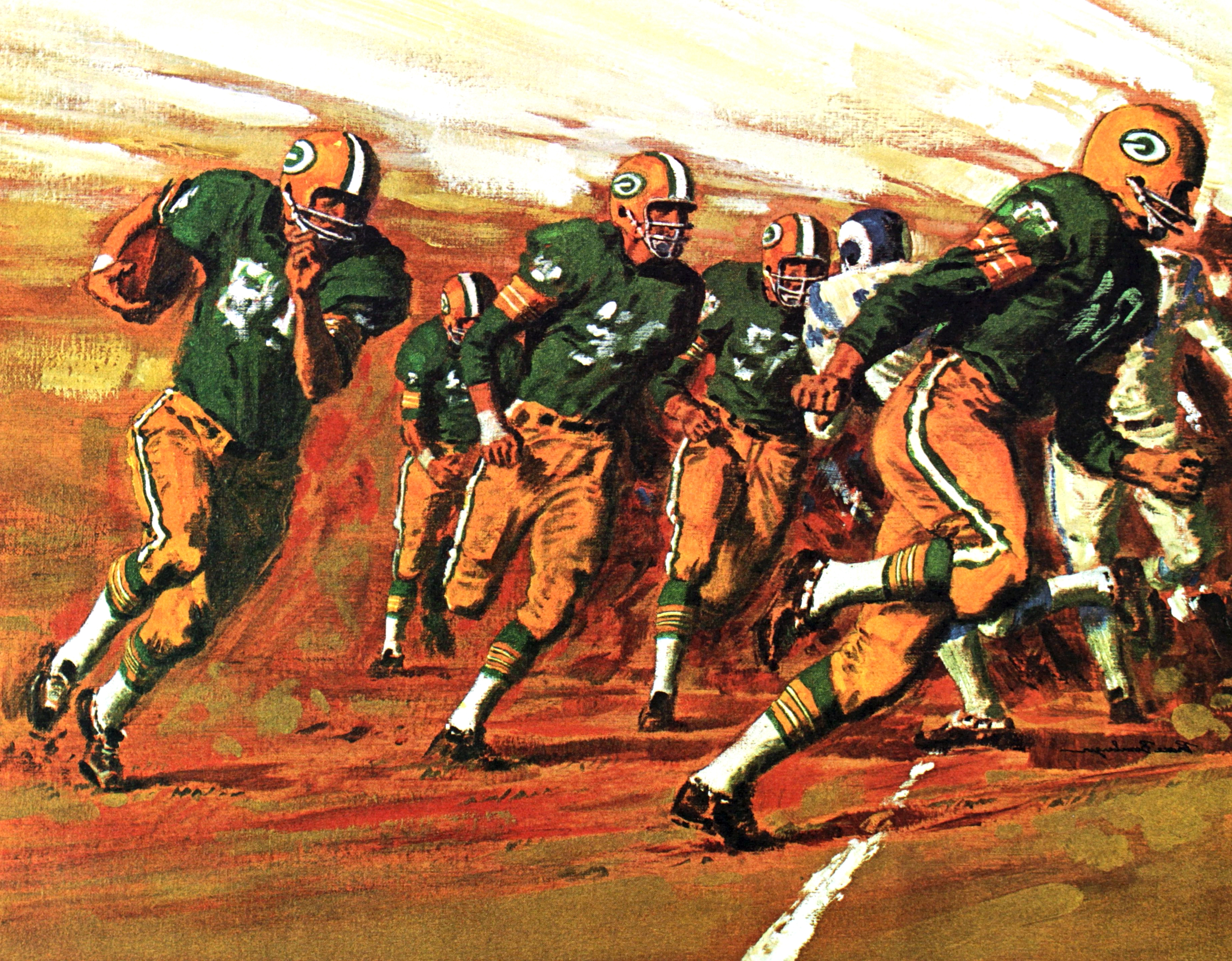 Green Bay Packers Wall Art Regarding Well Known 1965 66 Green Bay Packers Mobil Oil Poster (View 12 of 15)