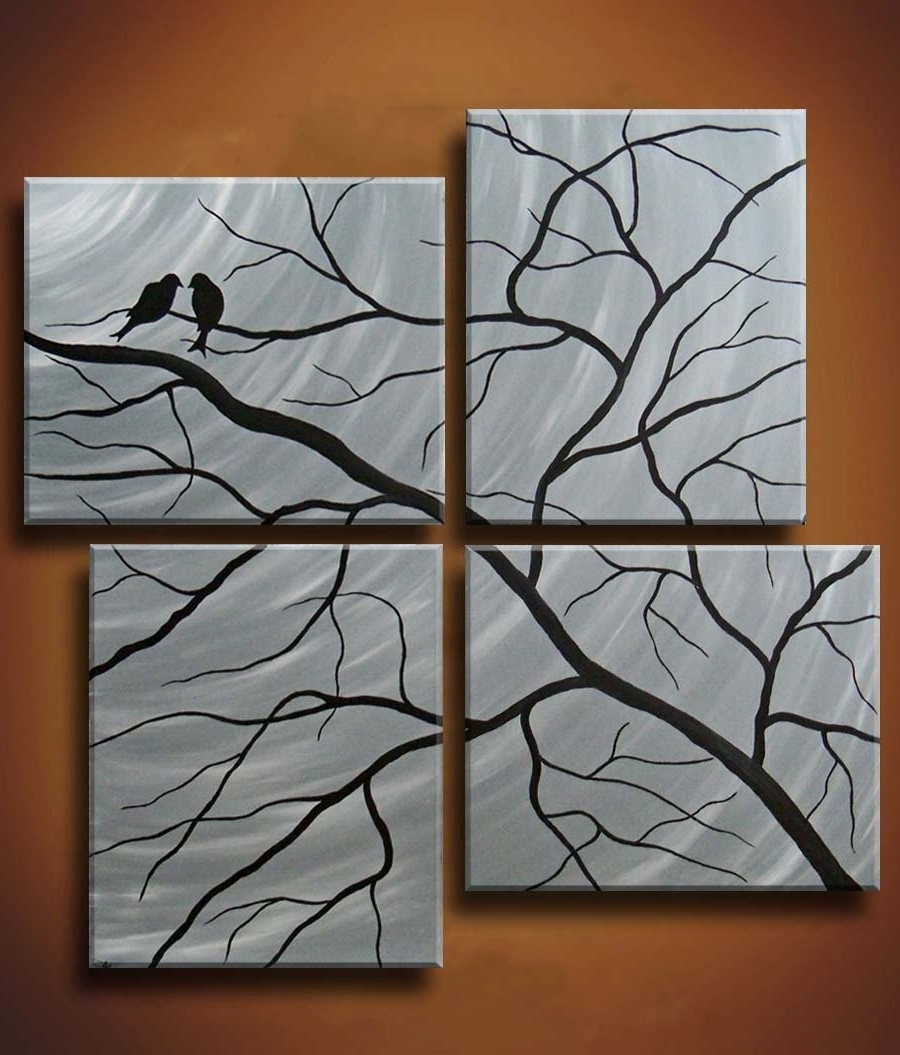 Half Off This Week Only — Multiple Canvas Painting Of Birds In Pertaining To Current 48X48 Canvas Wall Art (View 7 of 15)
