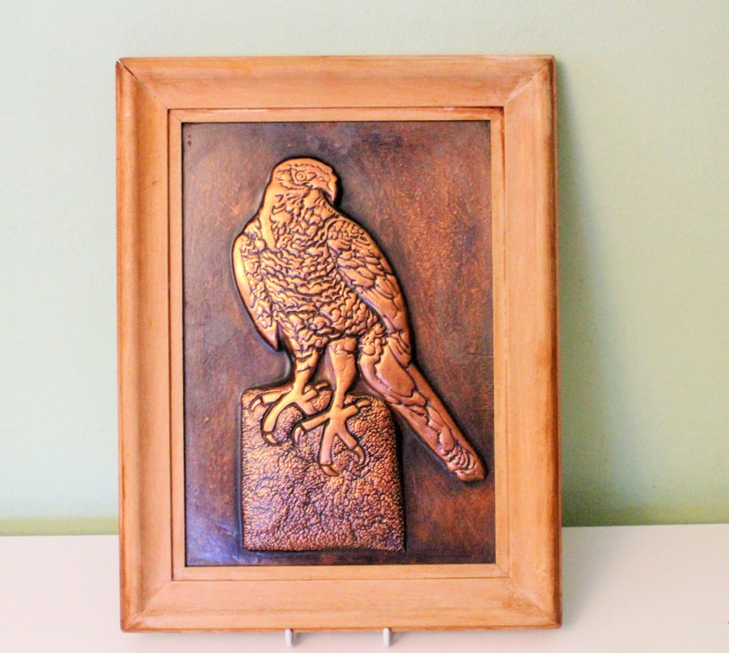 Hammered Metal Wall Art Pertaining To 2018 Vintage Framed 3D Hammered Copper Picture Eagle Metal Wall Art (Gallery 5 of 15)