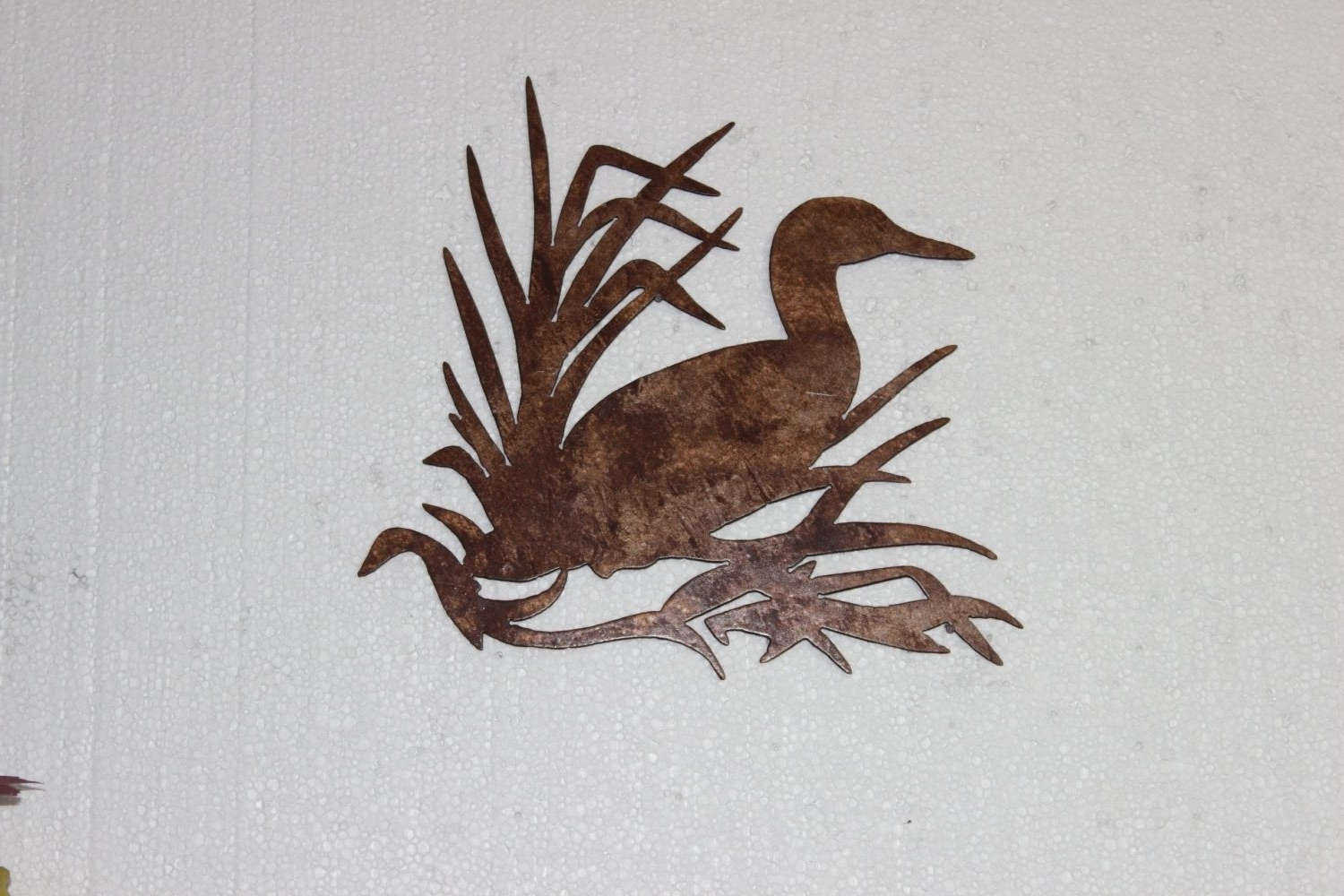 Hand Made Duck In Reeds On Sawblade Metal Wall Art Country Rustic Intended For Recent Country Metal Wall Art (View 14 of 15)