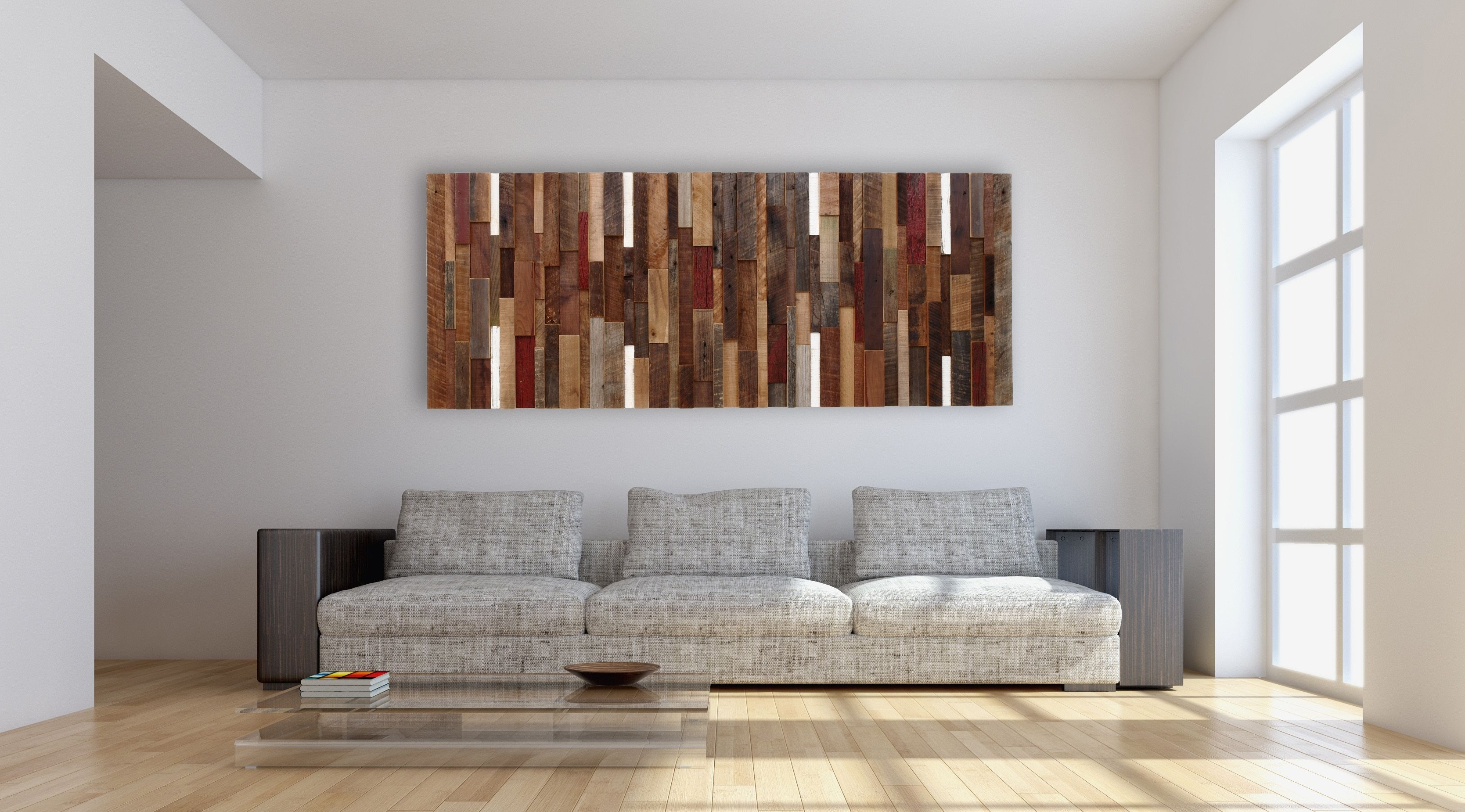 Hand Made Reclaimed Wood Wall Art, Made Intirely Of Reclaimed Barn Within Latest Wall Art On Wood (View 3 of 15)