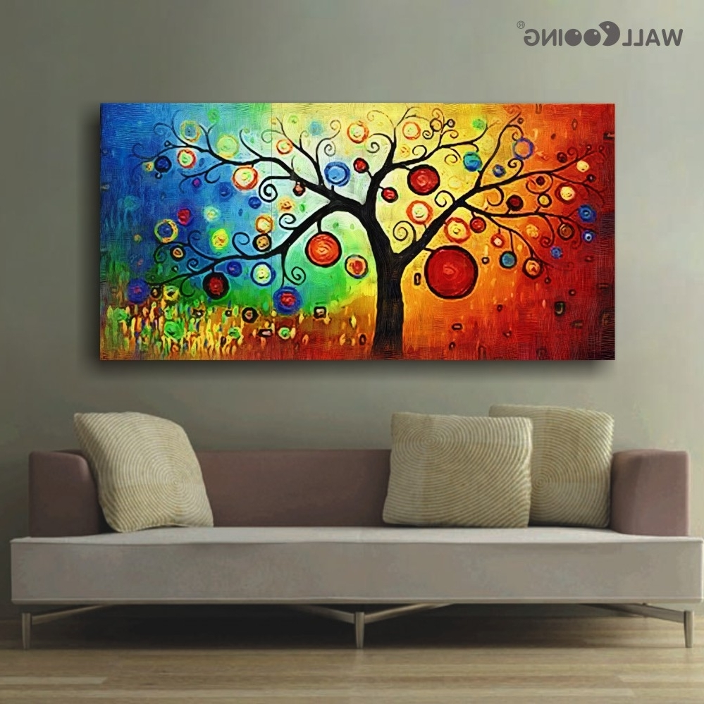 Hand Painted Modern Abstract Canvas Wall Art Oil Painting Apple Throughout Best And Newest Abstract Canvas Wall Art (View 11 of 15)