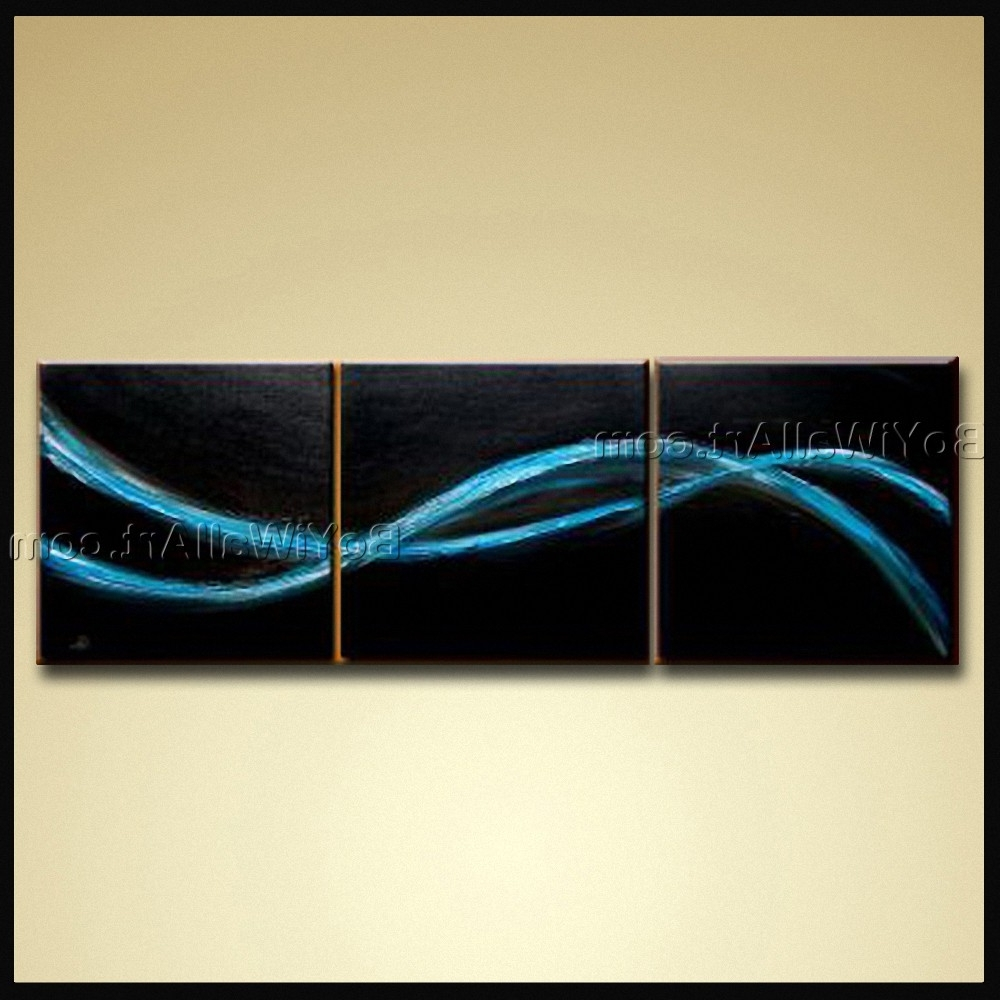 Hand Painted Oil Painting Canvas Contemporary Abstract Wall Art In Most Popular Abstract Wall Art (Gallery 11 of 15)