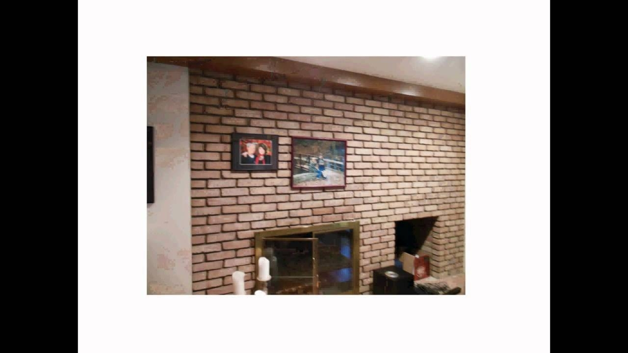 Hanging Wall Art For Brick Wall With Regard To Most Recently Released How To Hang Stuff Easily On A Brick Wall Or Fireplace Without (Gallery 5 of 15)