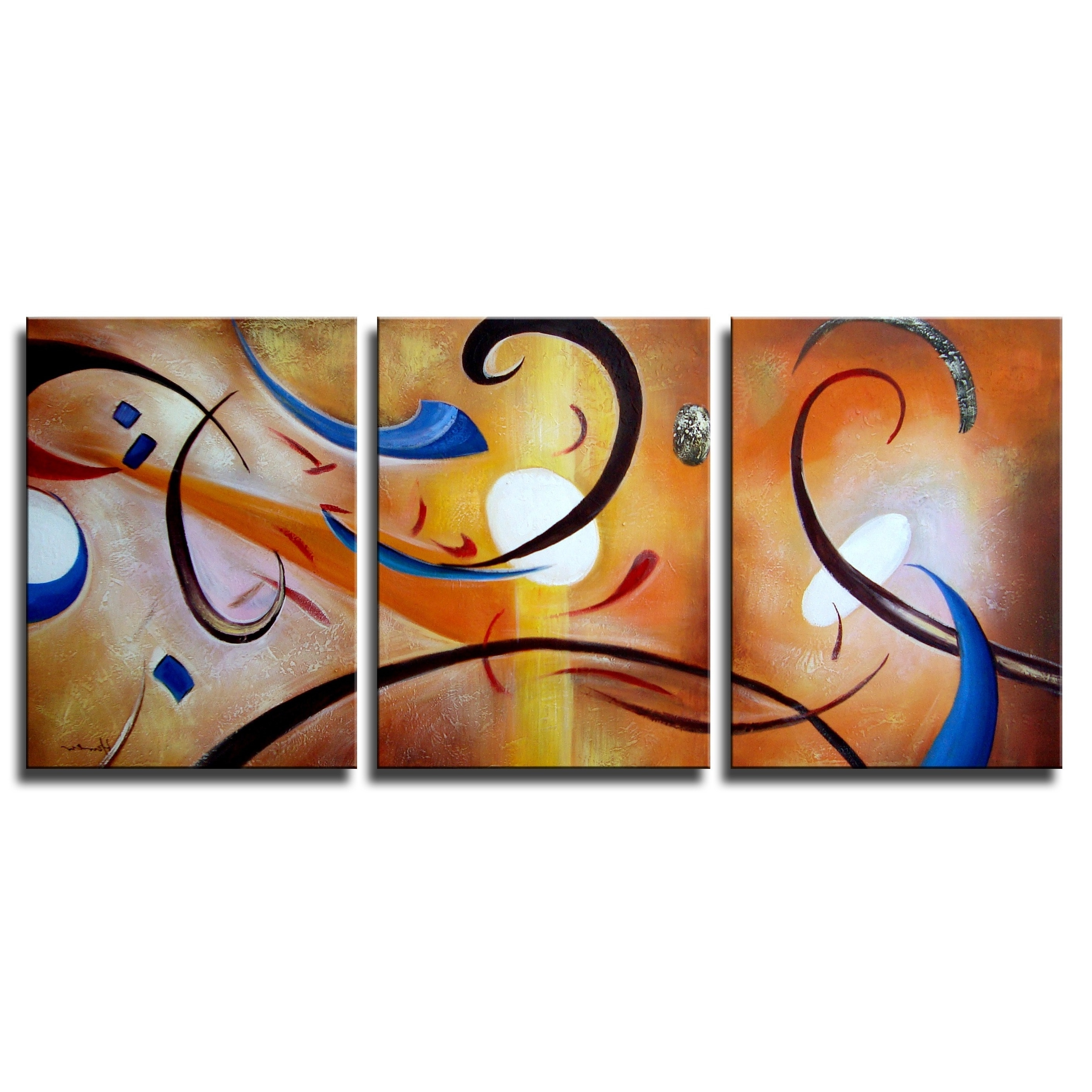 Happiness Abstract Wall Art For Most Up To Date Clay Alder Home Happiness Abstract' Hand Painted Gallery Wrapped (View 8 of 15)