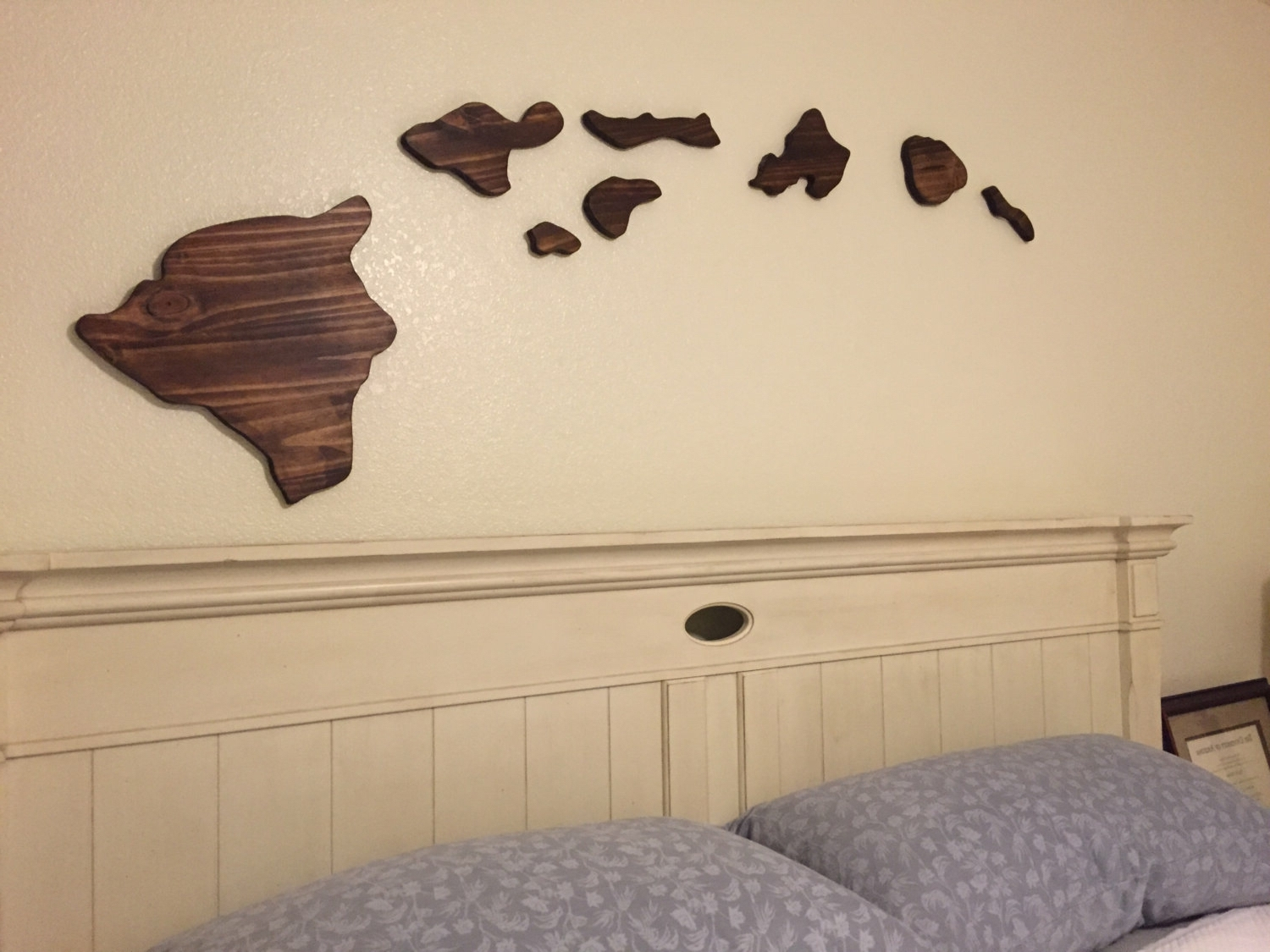 Hawaiian Wall Art Intended For Most Recent Hawaiian Island Chain Wood Carving Wall Set Large 6 Feet Handmade (Gallery 9 of 15)