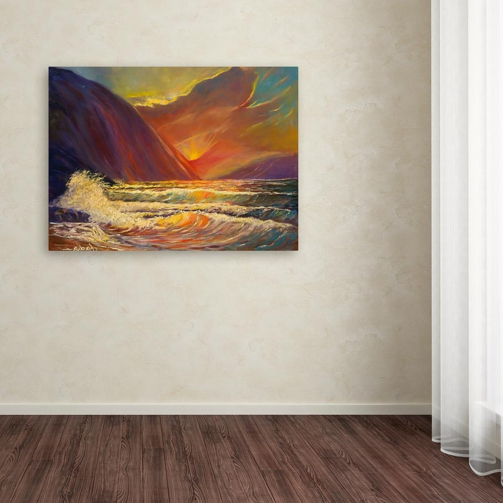 "Hawaiian Wall Art Within Most Recently Released Trademark Fine Art 35 In. X 47 In. ""hawaiian Coastal Sunset"" (Gallery 15 of 15)"