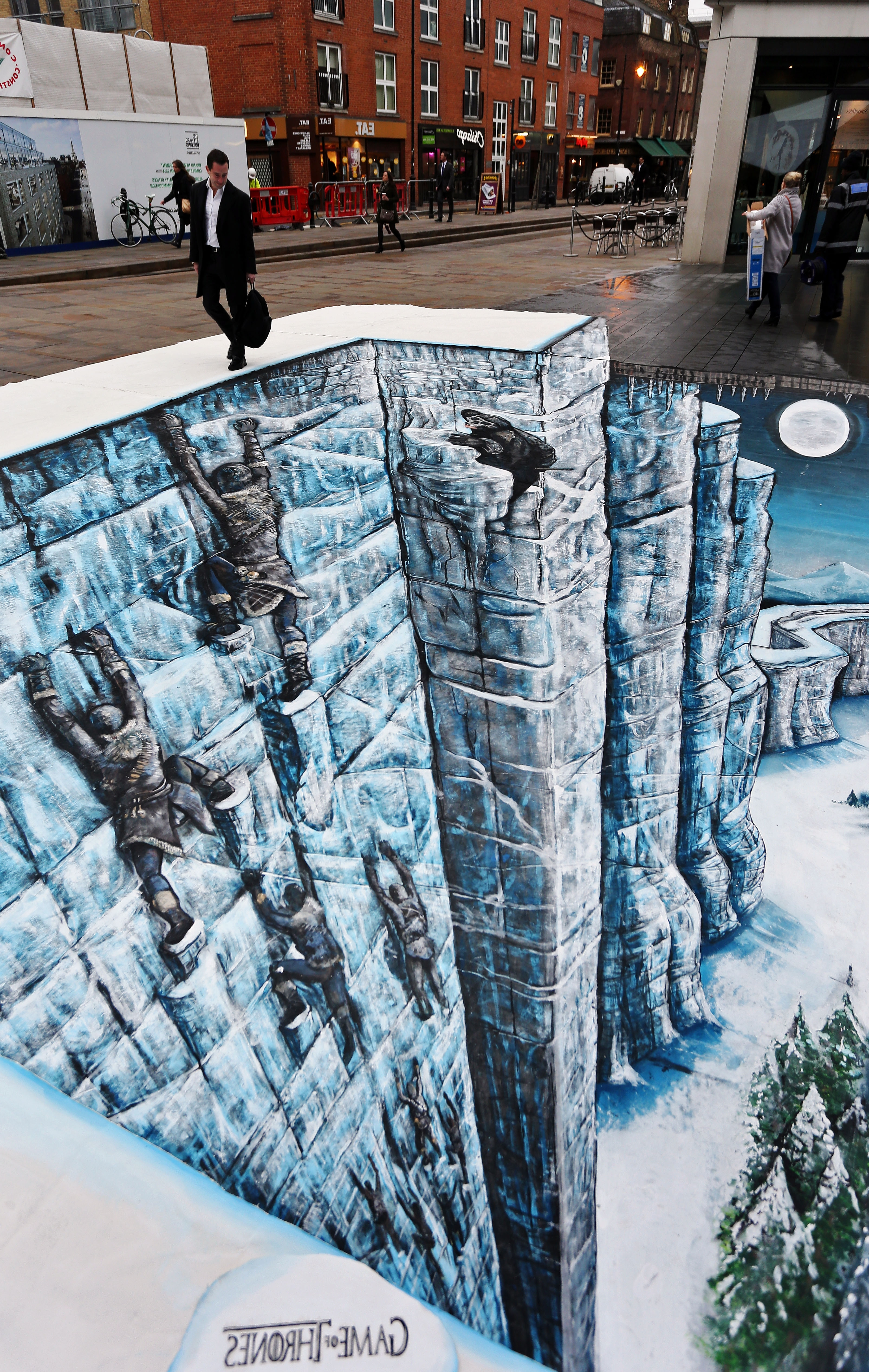 Hbo Commissions 3D Street Art Of The Wall In London – Winter Is Coming Inside Widely Used 3D Artwork On Wall (View 10 of 15)