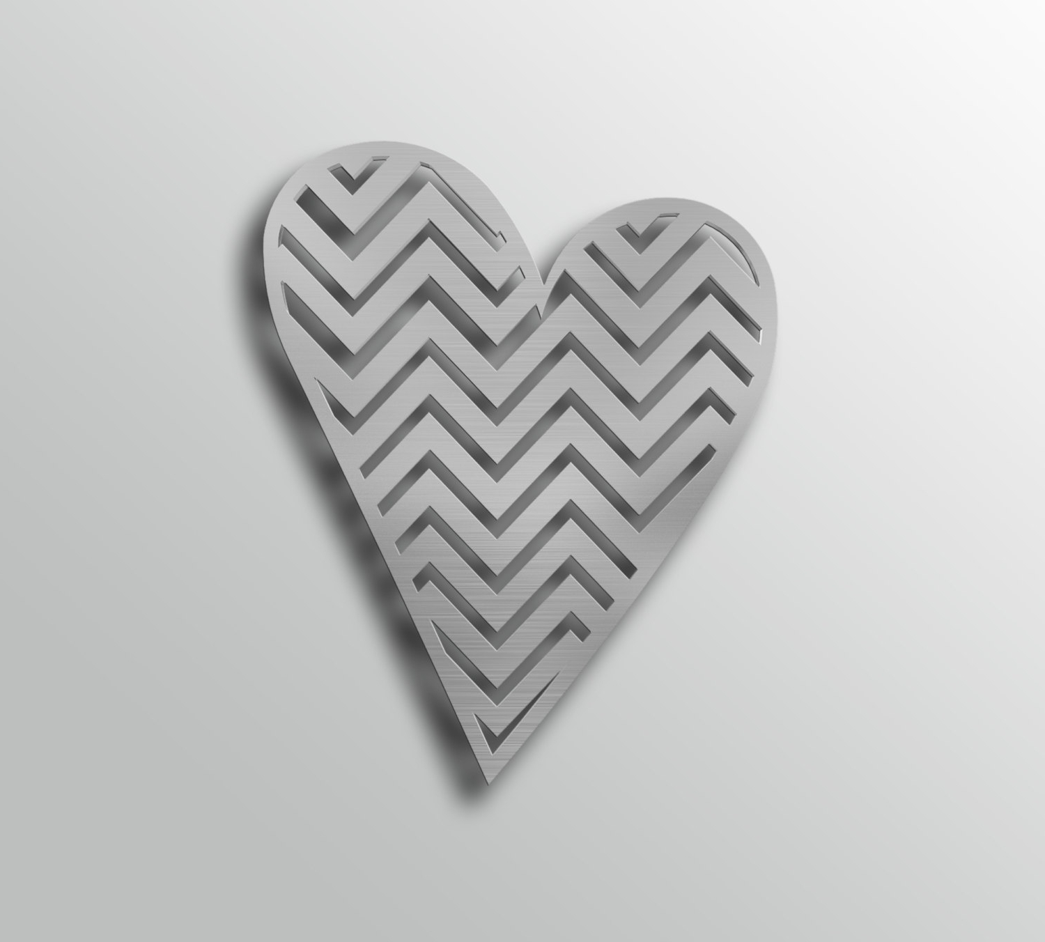 Heart Shaped Metal Wall Art With Trendy Heart Wall Art, Chevron Pattern, Metal Wall Art, Heart Shaped Wall (View 3 of 15)