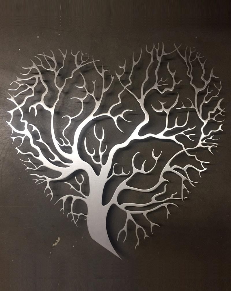 Heart Shaped Tree Metal Wall Art – Inspire Metals In Widely Used Heart Shaped Metal Wall Art (Gallery 1 of 15)