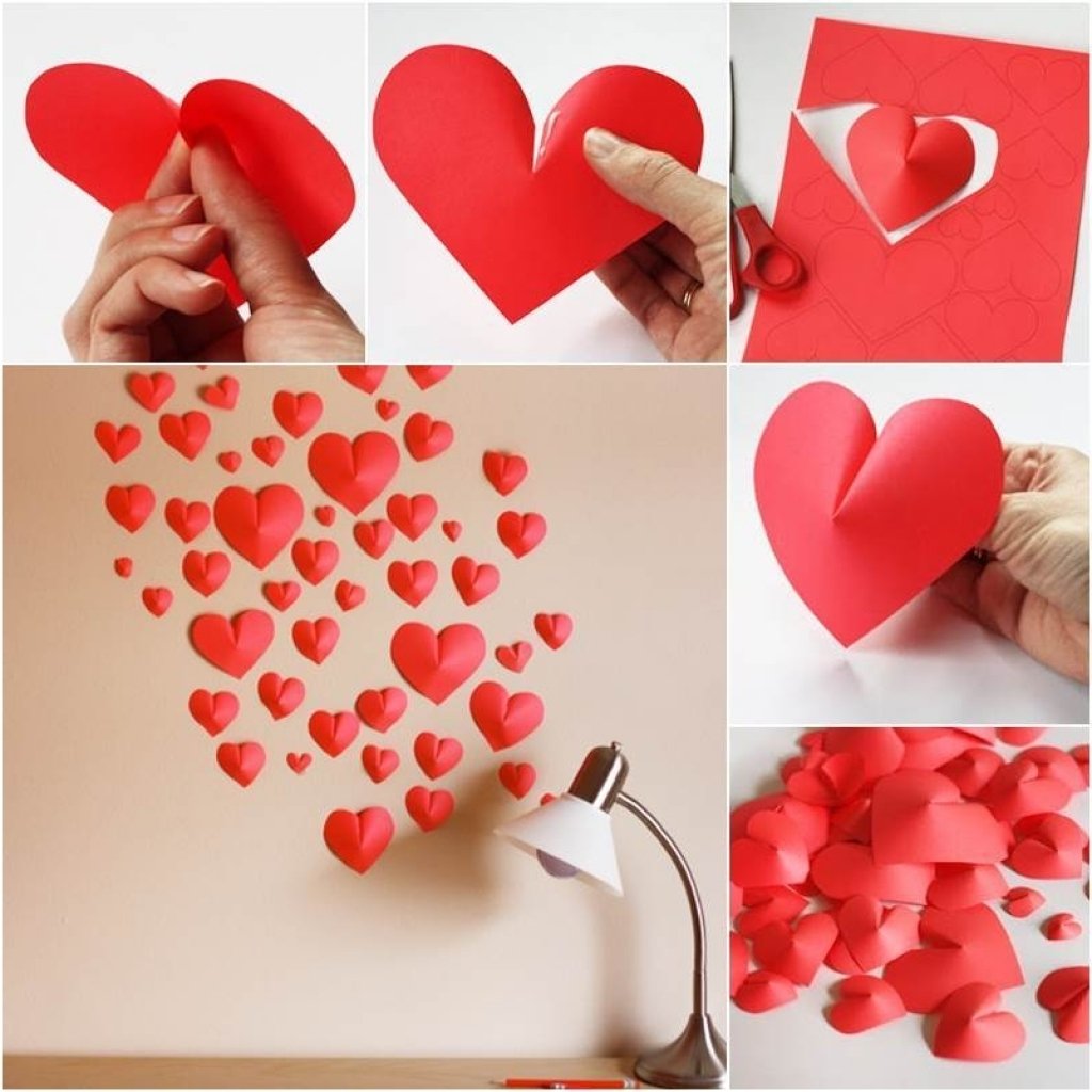 Heart Wall Decoration Honeybee Vintage Diy Paper Heart Wall Art With Regard To Fashionable Heart 3D Wall Art (Gallery 2 of 15)
