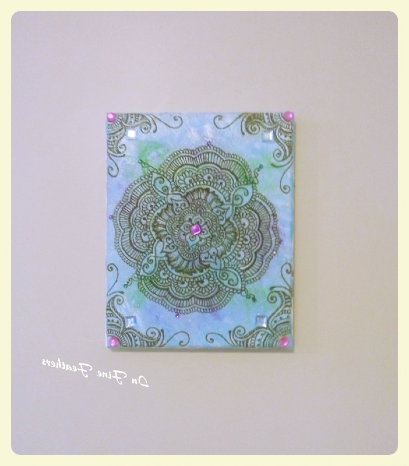 Henna Mandala Boho Chic Wall Art Yoga Studio Office Spring Decor Intended For Preferred Boho Chic Wall Art (Gallery 13 of 15)