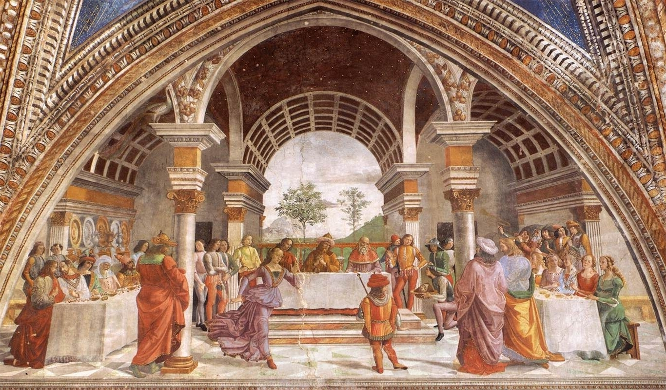 Herod's Banquet, 1486 1490 Domenico Ghirlandaio Italian For Popular Italian Renaissance Wall Art (View 15 of 15)