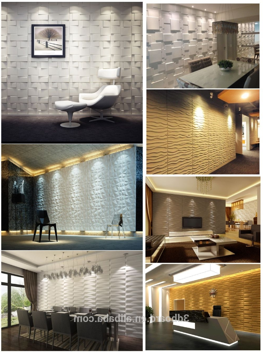 High Quality Luxury Pvc Living Room 3D Wallpaper For Interior Wall Inside Preferred 3D Effect Wall Art (View 8 of 15)