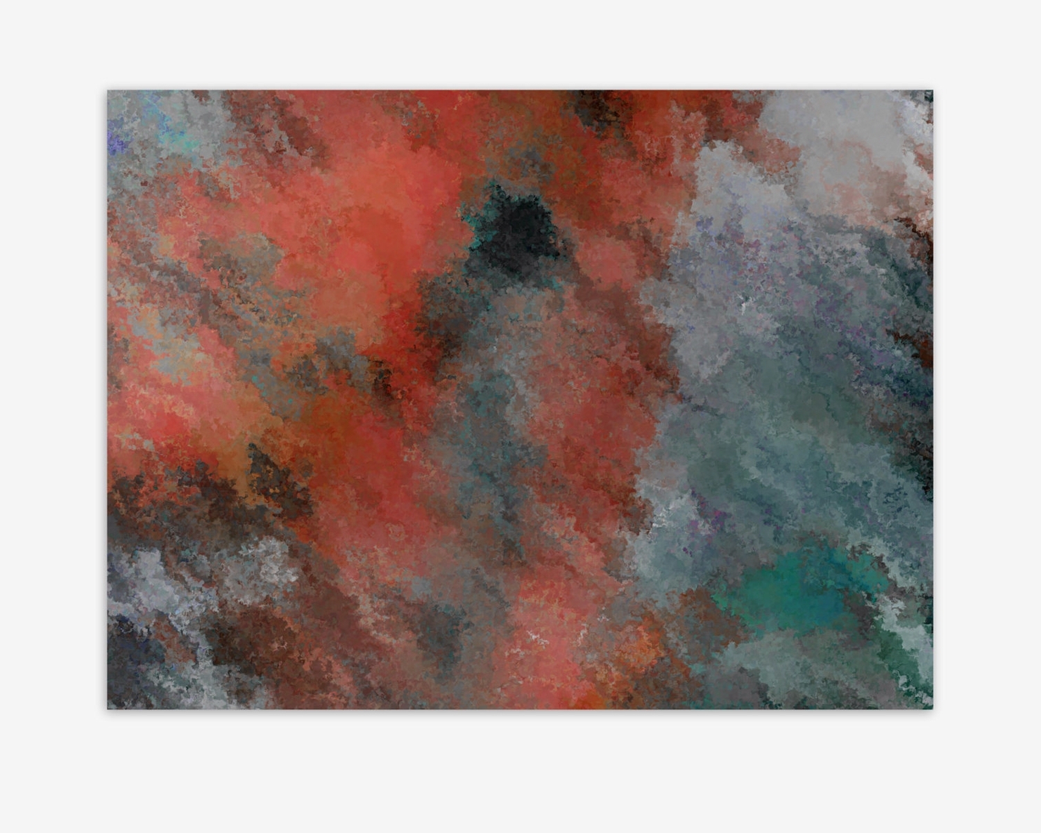 Hobby Lobby Abstract Wall Art For Most Recent Wall Art Canvas, Coral Teal Navy Rust Grey Wall Decor, Canvas (View 6 of 15)