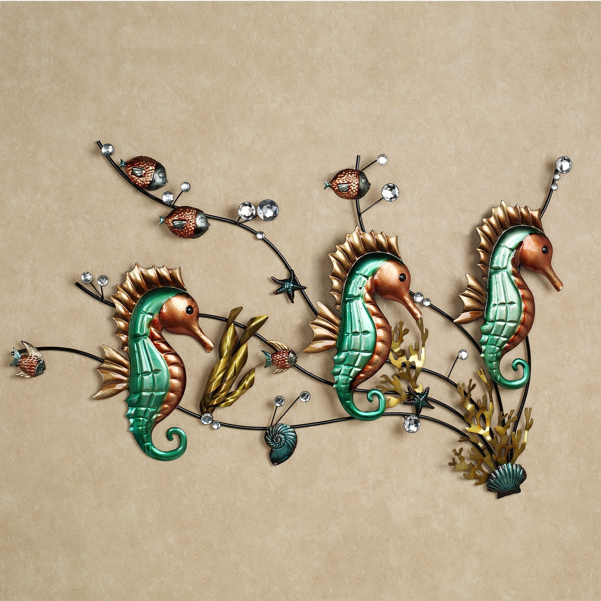 Home Aquatic Friends Wall Art Sculpture Pertaining To Well Liked Sea Horse Wall Art (Gallery 8 of 15)