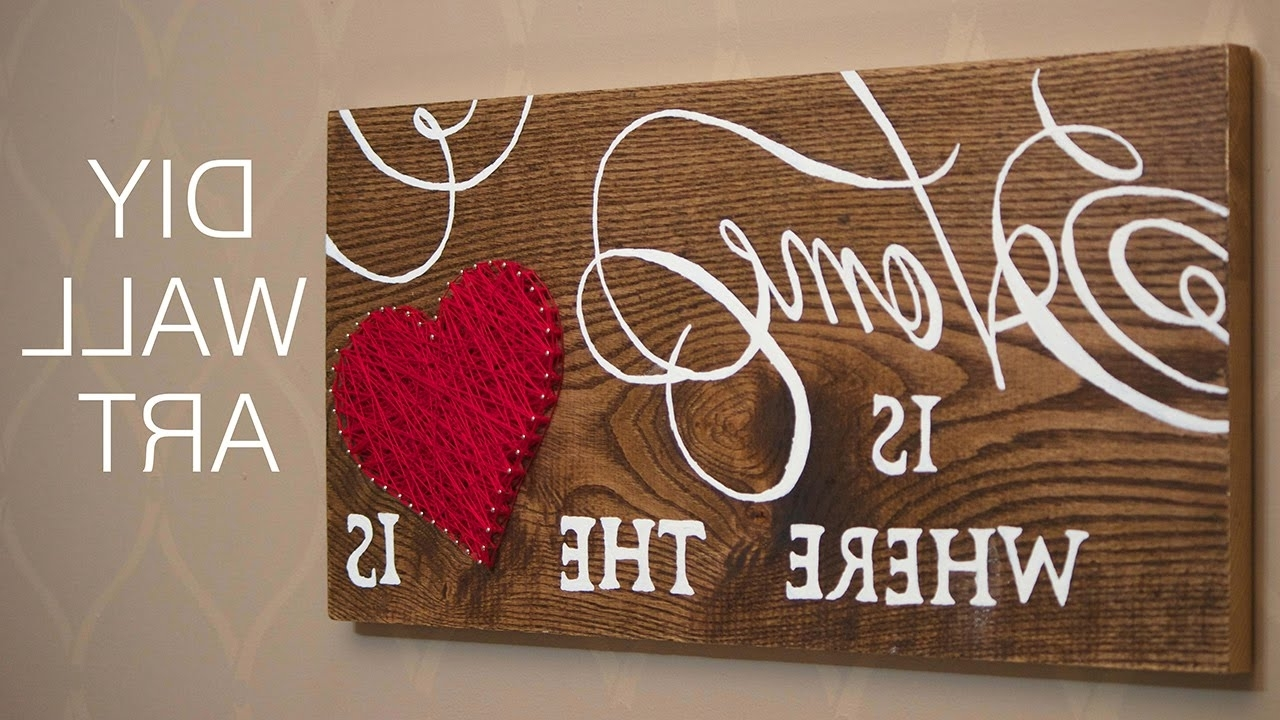 Home Decor Project – Youtube Pertaining To Wood Word Wall Art (View 11 of 15)
