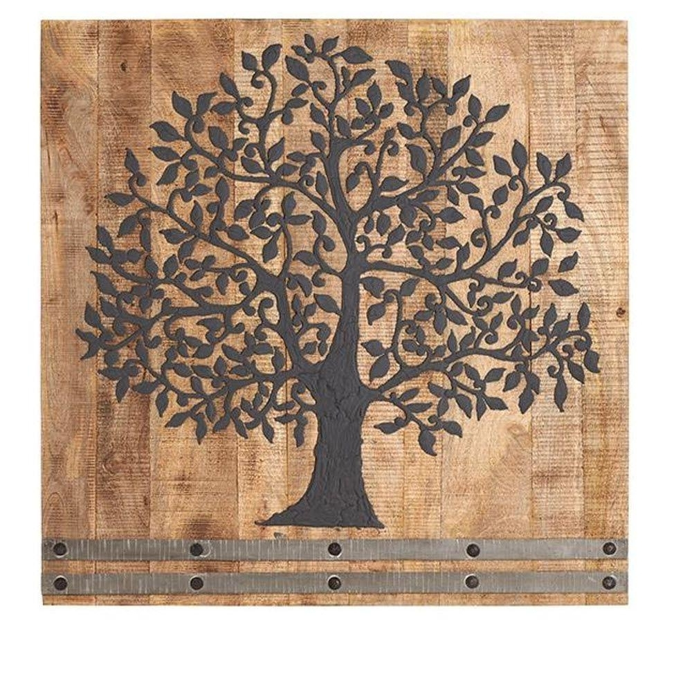 Home Decorators Collection 36 In. H X 36 In. W Arbor Tree Of Life With Regard To Favorite Oak Tree Large Metal Wall Art (Gallery 15 of 15)