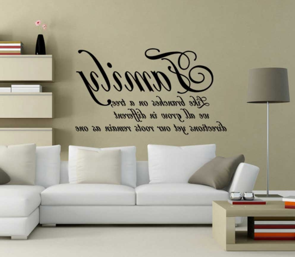 Home Interior & Exterior In Latest Family Sayings Wall Art (Gallery 4 of 15)