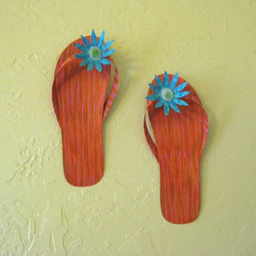 Homely Idea Flip Flop Wall Art With Lovely 66 For Lime Green Metal In Most Up To Date Lime Green Metal Wall Art (Gallery 14 of 15)