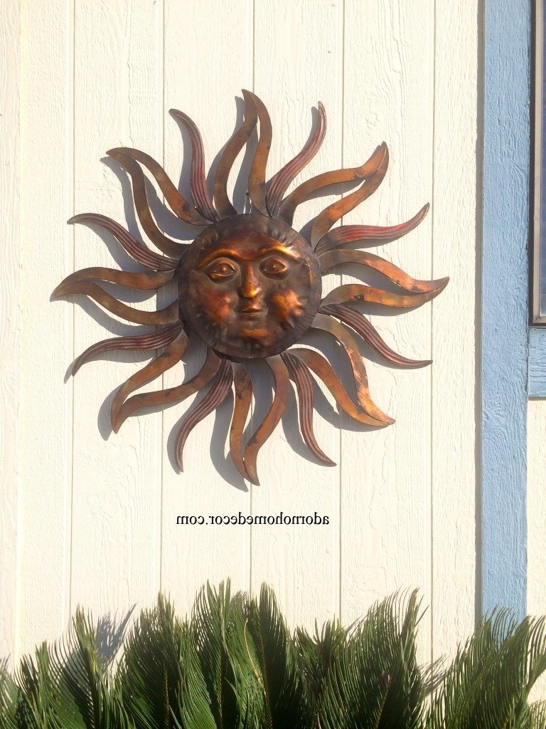 Homey Design Sun Face Wall Decor Decorative Metal Hanging Huge Pertaining To Most Popular Mexican Metal Yard Wall Art (Gallery 12 of 15)