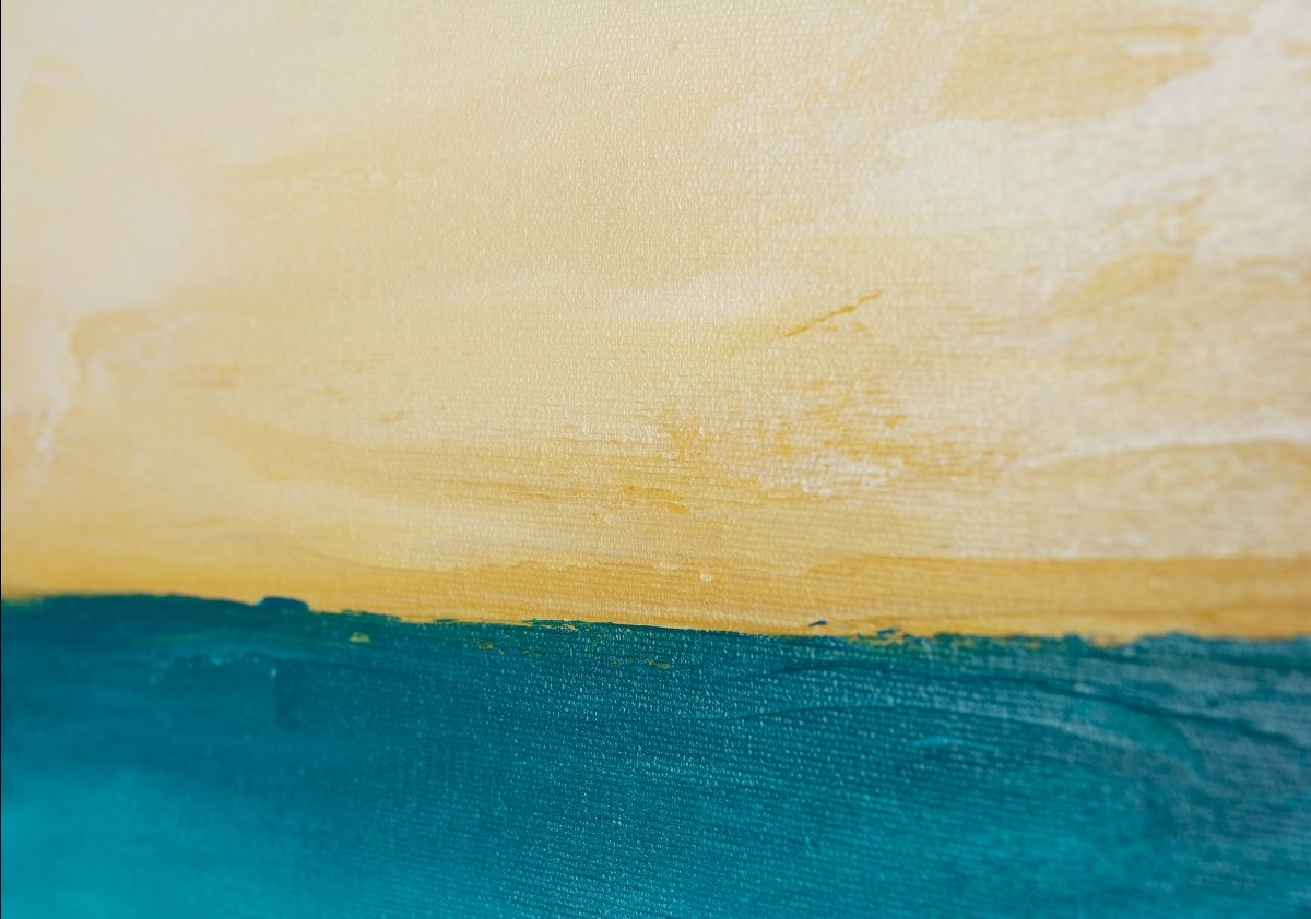 "Horizonqiqigallery 48"" X 24"" Abstract Seascape Painting For Most Popular Abstract Horizon Wall Art (Gallery 4 of 15)"