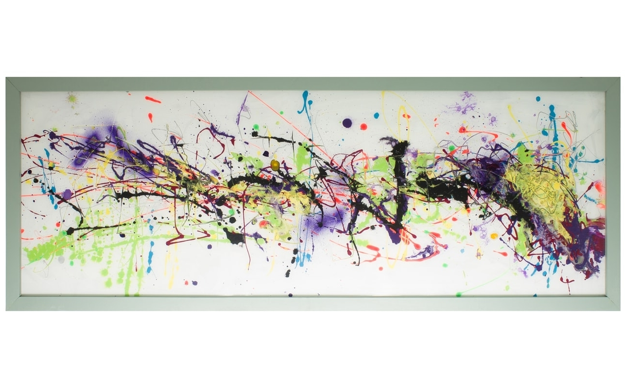 Horizontal Abstract Wall Art Pertaining To Latest Extra Large Glass Wall Artcraig Anthony – Reformations (View 6 of 15)