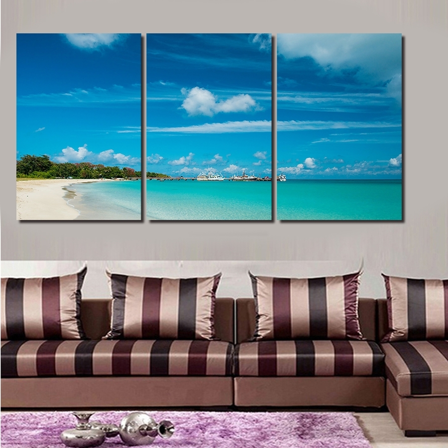 Horizontal Canvas Wall Art Inside Favorite Wall Art Designs: Horizontal Wall Art 3 Pcs Artist Canvas Still (View 4 of 15)