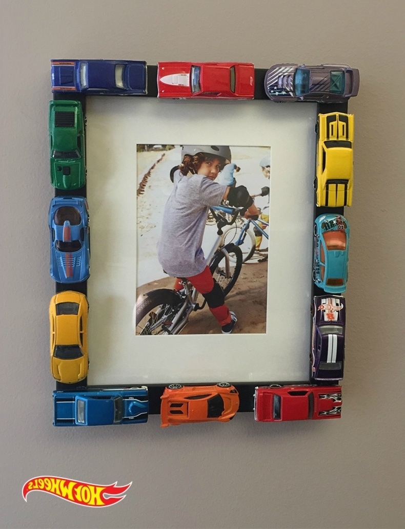 Hot Wheels Wall Art With 2017 Customize Your Own Picture Frame Using Hot Wheels Cars With This (View 8 of 15)