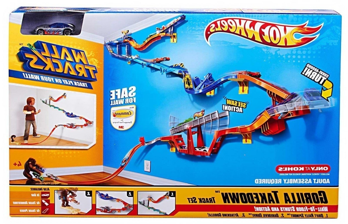 Hot Wheels Wall Art With Regard To Well Liked Amazon: Hot Wheels Wall Tracks – Gorilla Takedown Track Set (View 13 of 15)