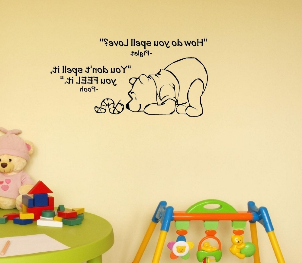How Do You Spell Love. Winnie The Pooh. Vinyl Wall Art In Recent Winnie The Pooh Wall Art (Gallery 8 of 15)