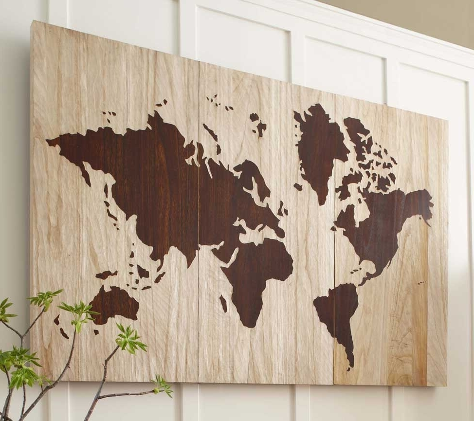 How To Create A World Map Wall Art Within Most Recent Map Wall Art (Gallery 4 of 15)