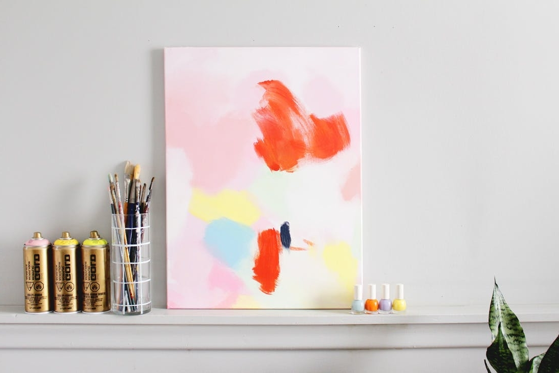 How To Make This $3600 Anthropologie Acrylic Wall Art For Next To Inside Current Diy Abstract Wall Art (View 9 of 15)