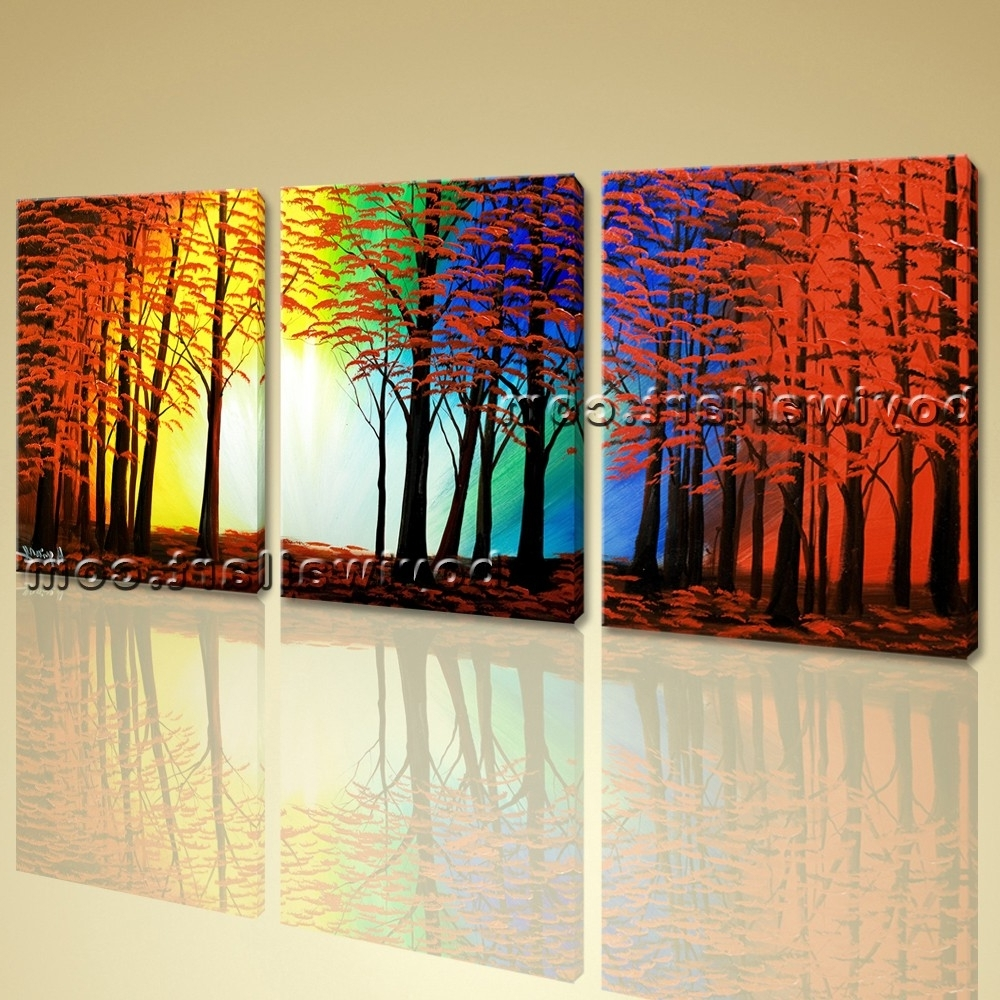 Huge Abstract Wall Art Regarding Fashionable Abstract Landscape Painting Print On Canvas Original Wall Art Framed (View 2 of 15)