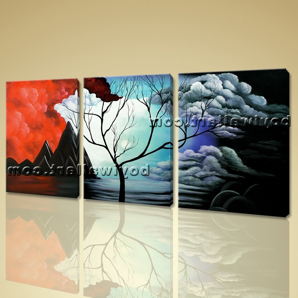Huge Abstract Wall Art With Regard To Latest Abstract Landscape Painting Print On Canvas Original Wall Art Framed (View 6 of 14)