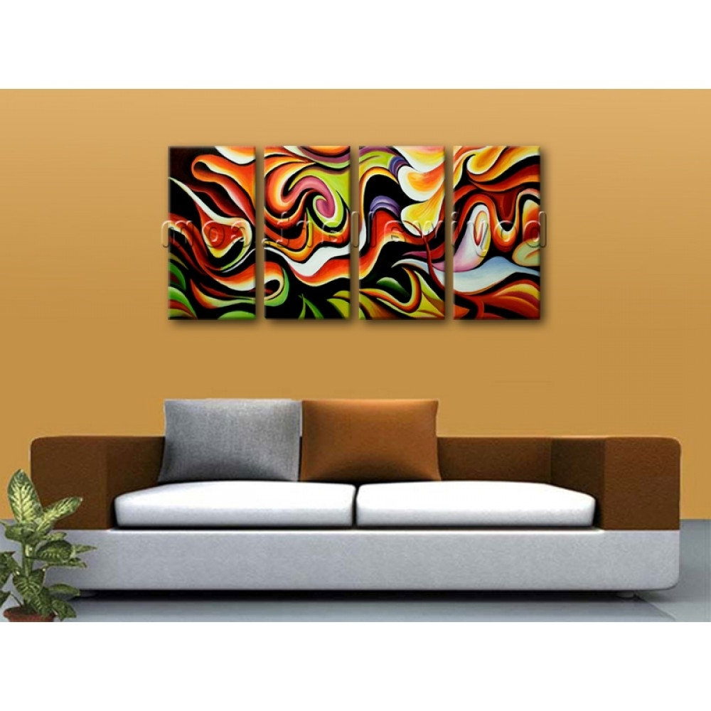 Huge Wall Art Abstract Painting Home Decoration Ideas Canvas Print With Well Liked Huge Wall Art (View 6 of 15)