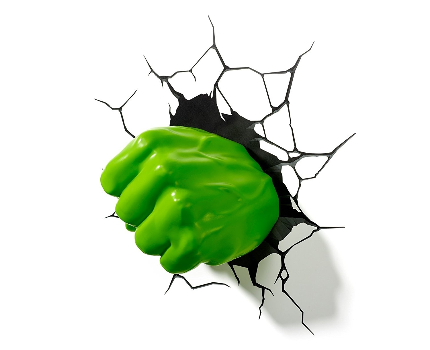 Hulk Hand 3D Wall Art Regarding Newest Marvel Hulk Fist 3D Led Light: Amazon.co (View 8 of 15)