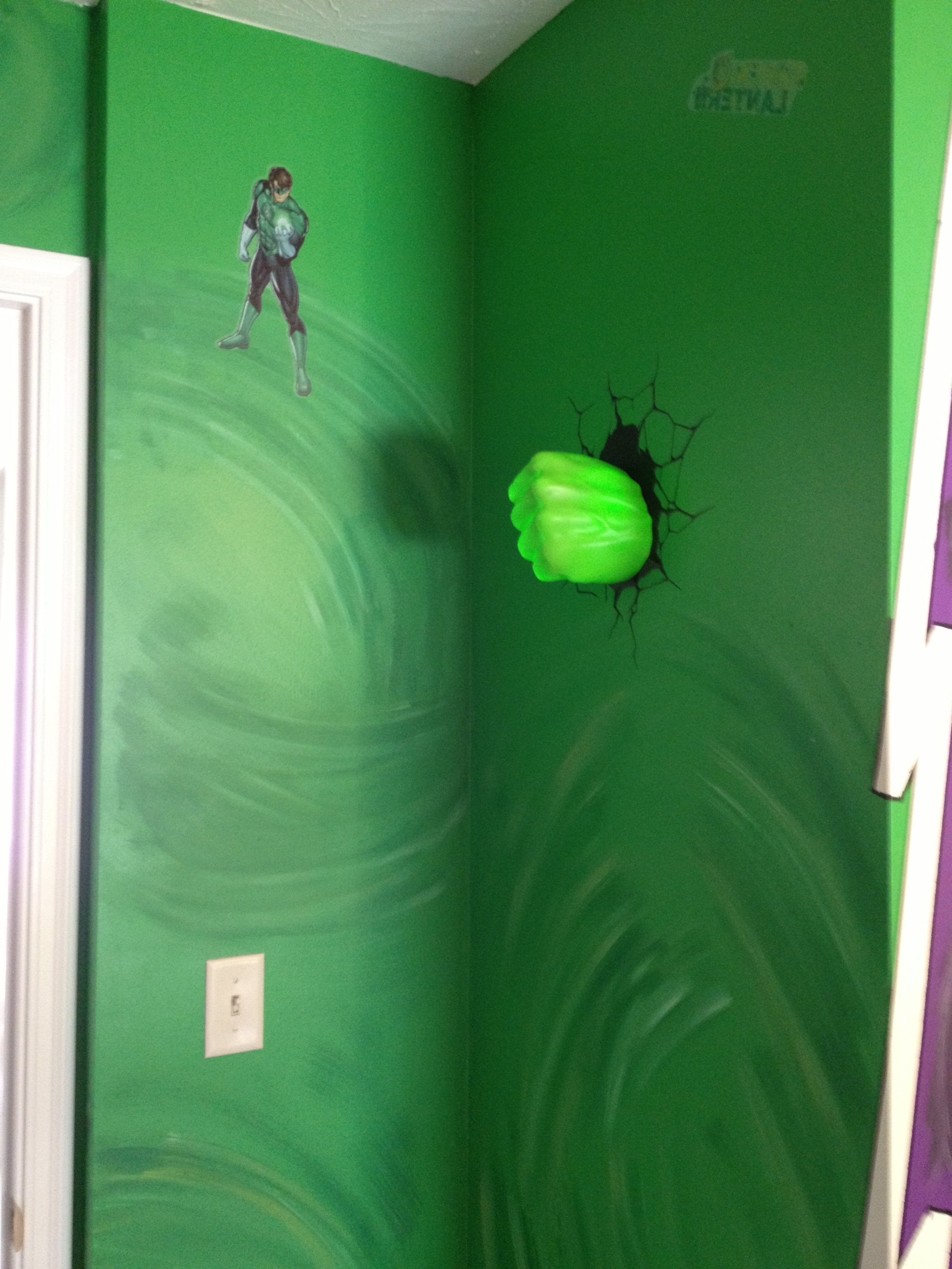 Hulk Hand Smashing Through Wall Just Inside Door It Kind Of Throughout 2018 Hulk Hand 3D Wall Art (View 10 of 15)