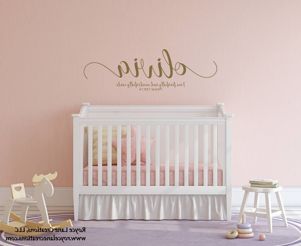 I Am Fearfully And Wonderfully Made Baby Girl Name Nursery Decal For 2018 Fearfully And Wonderfully Made Wall Art (View 10 of 15)