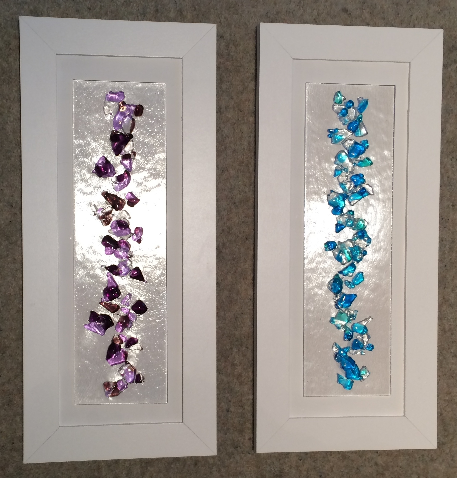 Featured Photo of Purple Fused Glass Wall Art