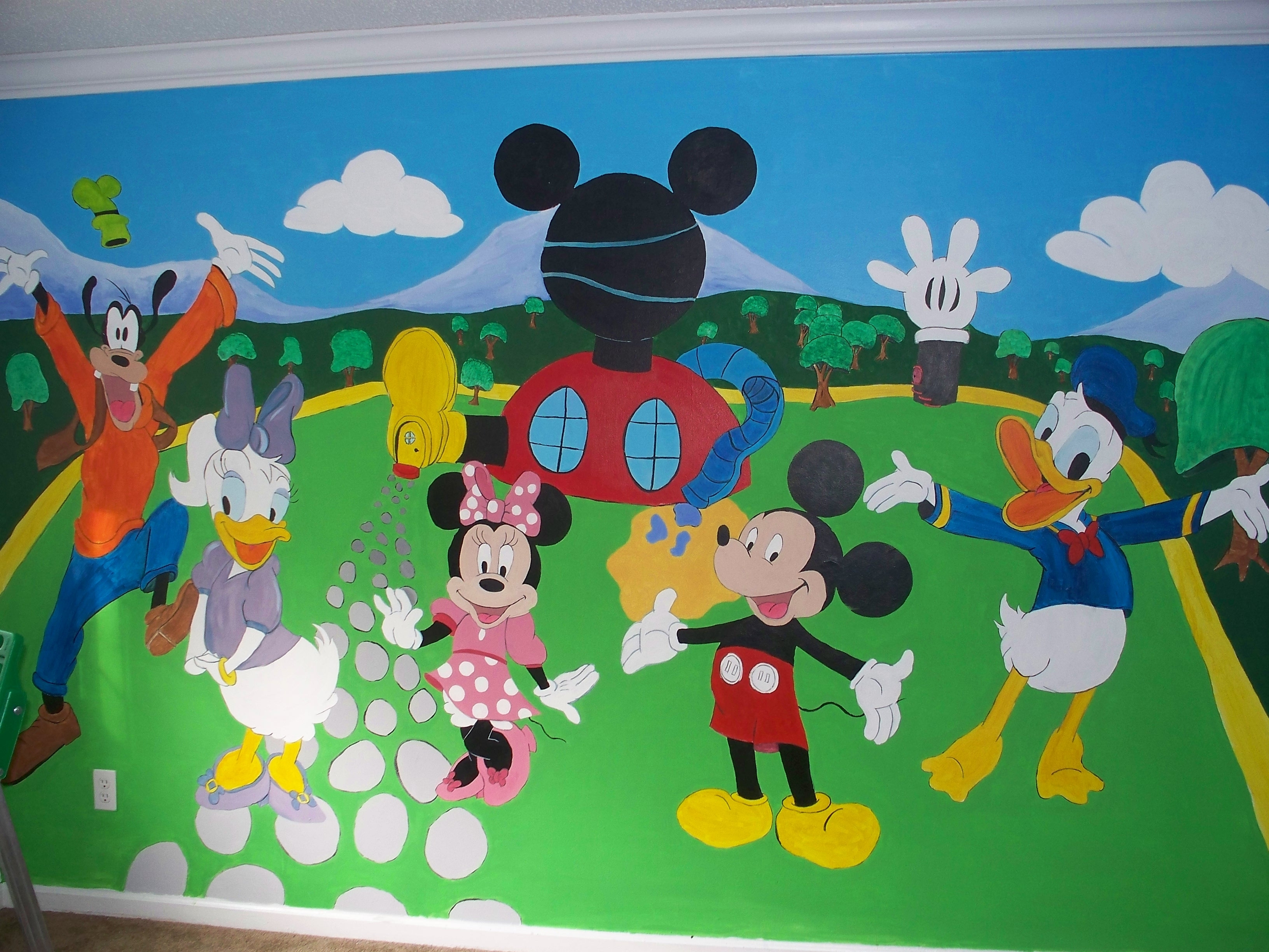 Ideal Mickey Mouse Clubhouse Wall Decals U2013 Wall Art And Wall With Regard To  Favorite Mickey