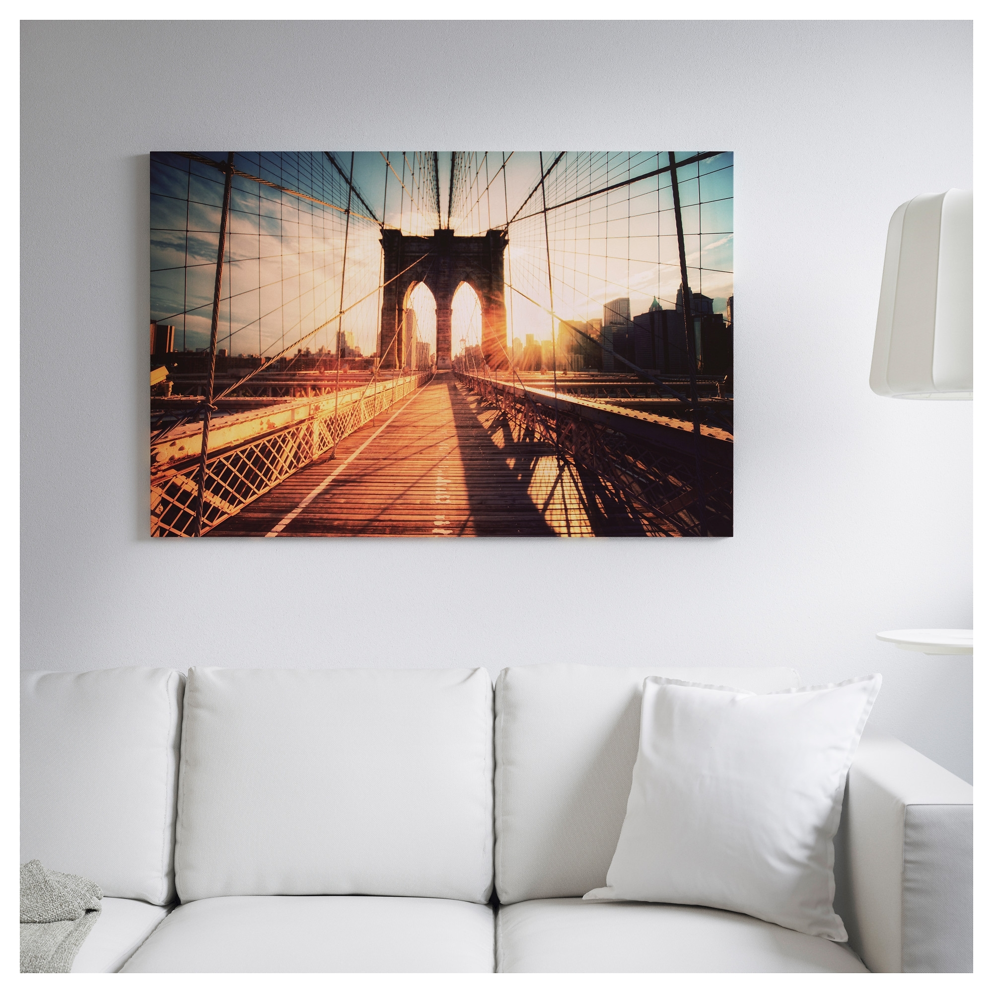 Ikea Brooklyn Bridge Wall Art Inside Favorite Björksta Picture And Frame – Black – Ikea (Gallery 10 of 15)